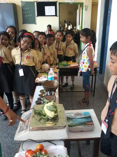 Practical learning of weighing by Class-2 students