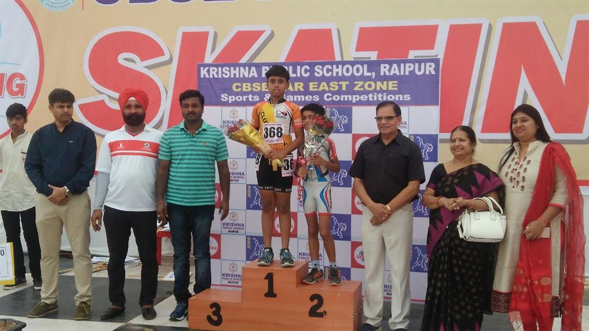 Gold and Bronze Medals in CBSE Zonal Skating Competition