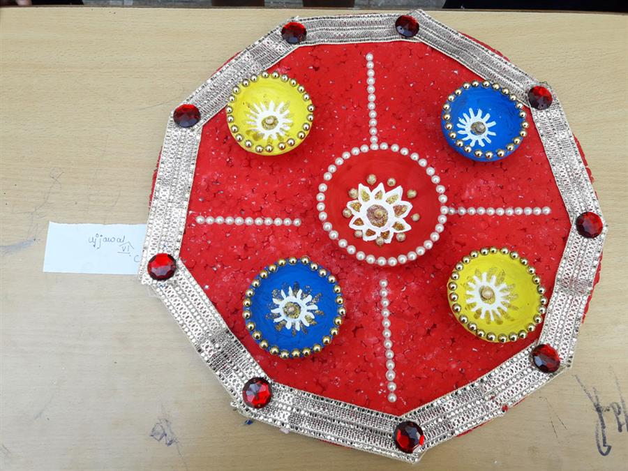 Rangoli and diya competition