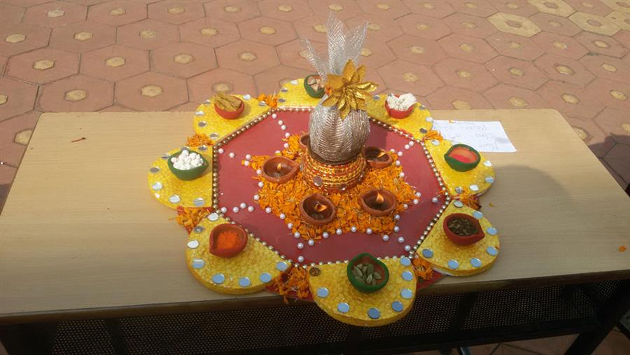 Diya Decoration & Rangoli Competition of Class 3-5